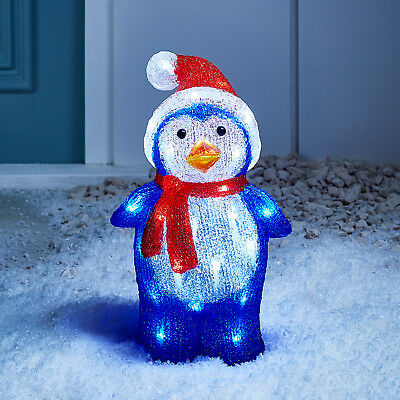 Light Up LED Penguin Indoor Outdoor Acrylic Christmas Figure Decoration
