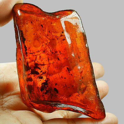 75g Baltic BLOOD RED AMBER Specimen Collectibl​e Natural UBXP78