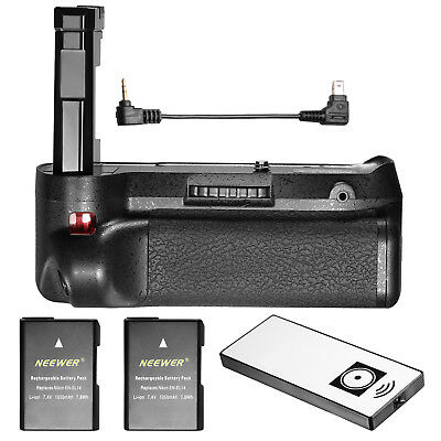 Neewer IR Remote Battery Grip+2*EN-EL14 Replacement for Nikon D3100/D3200/D5300