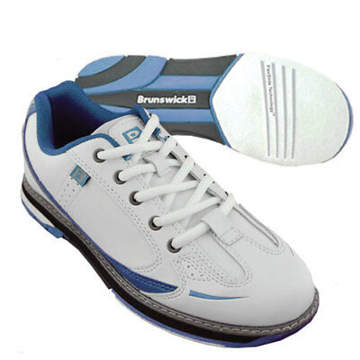 Women's Bowling Shoes Brunswick ick Curve white/blue,Right and Lefthand,