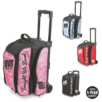 Bowling Ball Bag DV8 Double Roller Freestyle Bag, Room for Bowling Shoes