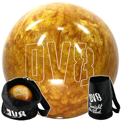 Bowling Ball DV8 Glitter Gold 8-15 lbs & Bag Site Place for Shoes