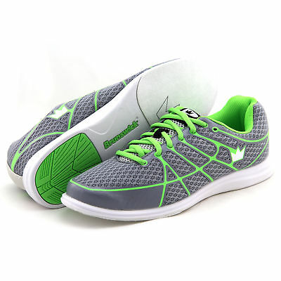 Bowling Shoes Ladies Brunswick Ick Aura Grey Lime Size 36-41 RIGHT AND LEFTHAND