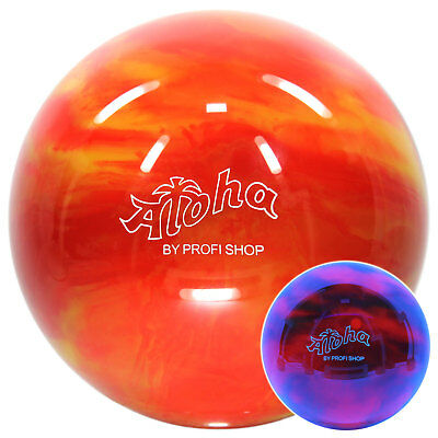 Bowling Ball Aloha Amazing Fire 6 - 16 lbs, Bowling Ball Red Orange, Spare Ball