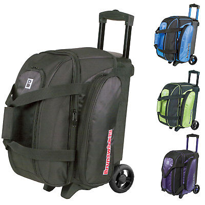 Bowling Ball Bag Double Roller Brunswick Ick Gear Bag, Room for Bowling Shoes