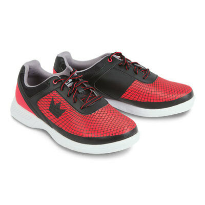 Men's Bowling Shoes Brunswick Ick Frenzy Black Red, for Right and Left-Handed