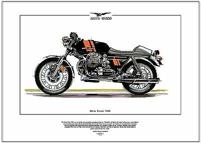 MOTO GUZZI 750S - Motor Cycle Fine Art Print - Italian made V-Twin OHV Superbike