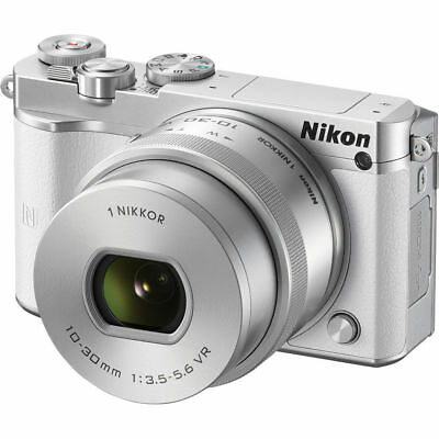 Nikon 1 J5 Mirrorless Digital Camera with 10-30mm Lens White US