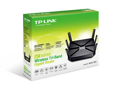 NEW! TP-Link ARCHER C3200 AC3200 Wireless Tri-Band Gigabit Router