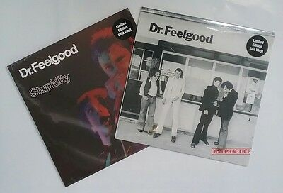 Dr Feelgood - Malpractice (Red) & Stupidity (Gold) Coloured RSD Vinyl LP Bundle