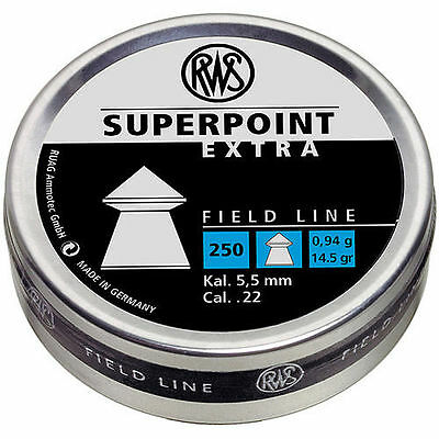 RWS Super Point Extra 22 Airgun Pellets .22 5.5mm in 50, 100, 500 Hunting/Pest