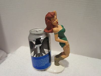 Vintage R Demars Sexy Red Head Cow Girl Beer Can Holder