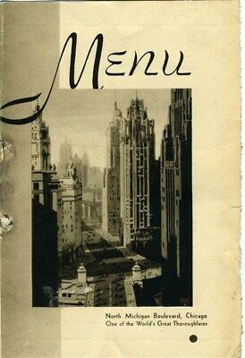 New York Central Dining Service Menu 1939 New York Worlds Fair Chicago Cover