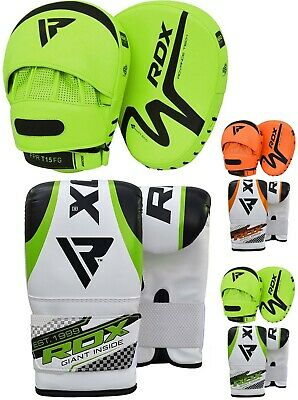 RDX Boxhandschuhe Training Schlagpolster Kickboxen Punch Pad Gloves MMA AT