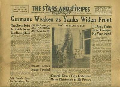 Stars and Stripes February 28, 1945 Nancy Germans Weaken as Yanks Widen Front