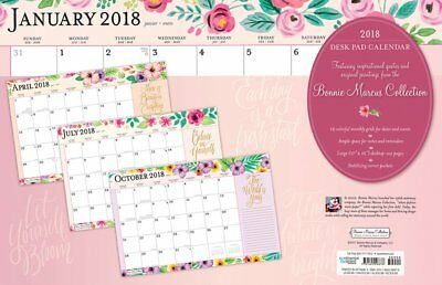 Bonnie Marcus 2018 Monthly Desk Pad Calendar by Browntrout. Post Paid