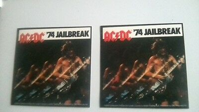 "2x AC/DC 74"" Jailbreak official stickers."