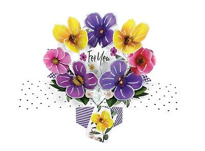 Flowers Mother's Day Birthday Card Pop Up Gift Card 3D Handcrafted Mother Mum