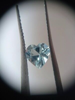 1.7ct Loose Heart cut Sky Blue Topaz. Natural Gemstone. 7mm