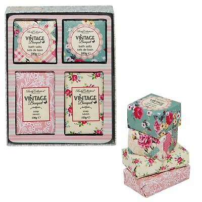 Body Collection Vintage Bouquet Bath Salts Soap Toiletries Ladies Gift Set