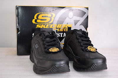 Men's Skecher's for Safety, 76759, Soft Stride-Galley Lace up Work Sneakers, Bl