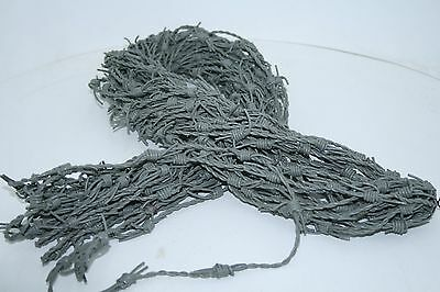 Leather barbed wire, 5 yards of a gray color made with 2 mm leather cords.. 0579