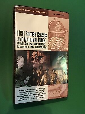 1881 British Census and National Index CD ROM Library 25 CDs Genealogy