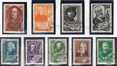 1956 Ussr Russia Soviet Union Stamp Famous Personalities Set Used