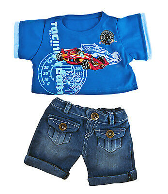 """Cool Racecar"" Teddy Bear Clothes Fits Most 14"" - 18"" Build-a-bear & More"