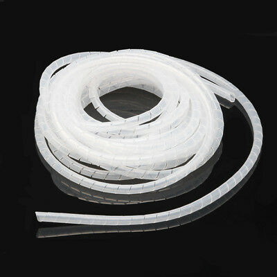 6mm White Spiral Cables Tidy Wrap PC Home Cinema TV Management Organizing  Kit