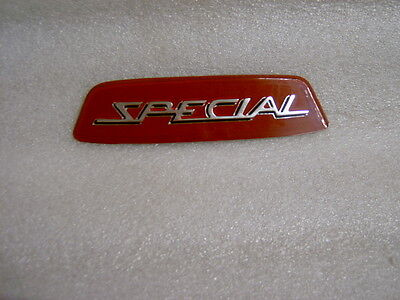 "Lambretta Burgundy Red "" Special"" Rear Frame Badge Free Postage"