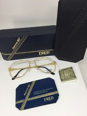 FRED Lunettes America Cup Paris Eyeglasses Sunglasses Force 10 C. Gold Plated