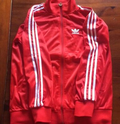 Introvabile Giacca Adidas Vintage Old Rossa Fiore