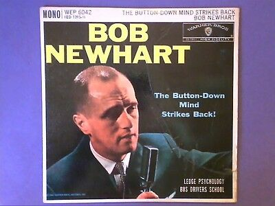 """Bob Newhart - The Button Down Mind Strikes Back! (7"""" EP) picture sleeve WEP 6042"""