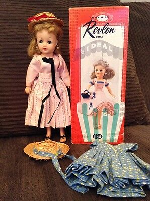 """Vintage Blonde Pony Tail Little Miss Revlon Doll With Box Extra Clothes 10.5"""""""