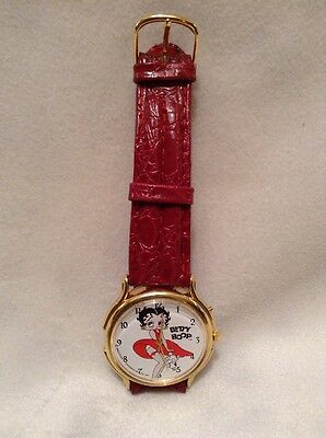 Fabulous Ladies Collector's Wrist Watch Betty Boop Pudgy 1992 Kfs Womens