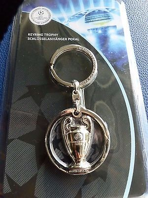 Uefa Champions League/ European Cup 2D Trophy Disc Keyring Real Madrid Jeventus