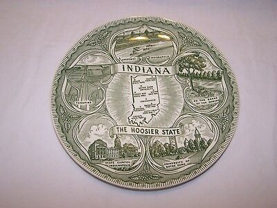 State Collectors Plate - Indiana The Hoosier State