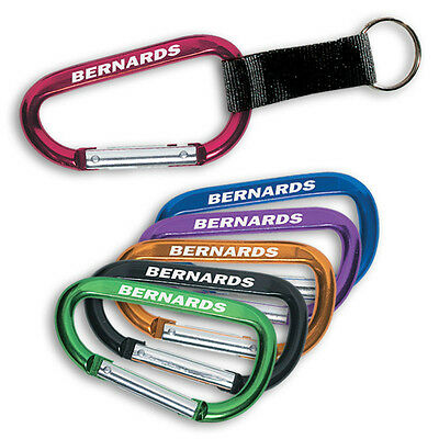 CARABINER KEY TAGS - 250 quantity - Custom Printed with Your Logo
