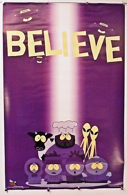 "South Park Aliens Cartman Abduction Believe 22.25"" X 34.50"""