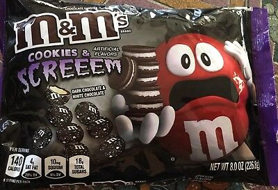 M&M's Halloween New Cookies & Screem Dark & White Chocolate Candy 8 Oz limited