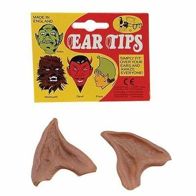Mens Ladies Latex Vinyl Werewolf Wolf Halloween Fancy Dress BROWN Ear Tips Ears