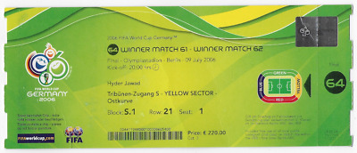 RARE 2006 World Cup final ticket: Italy v France: in Berlin, Germany