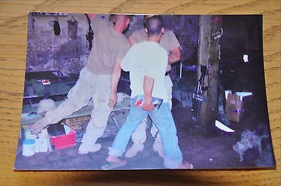 Iraqi Freedom OIF 1st Armored Photograph 5 x 7 In living room with all the gear
