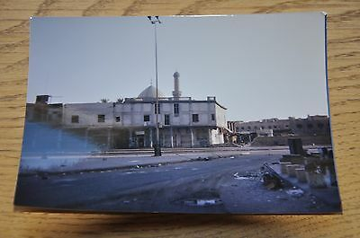 Iraqi Freedom OIF 1st Armored Photograph 5 x 7 Deserted Baghdad street early AM