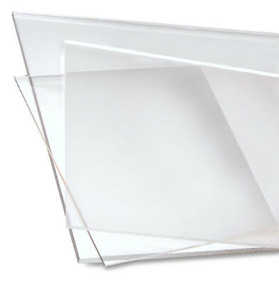 "Clear Craft Acrylic Plexiglass Sheet Custom Cut To Size 1/16"" Thick"