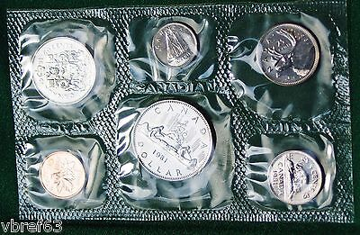 1981 Canada Prooflike PL set - 6 perfect coins in org packaging and certificate