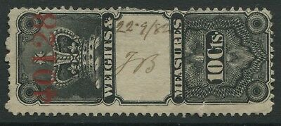 Canada QV Weights & measures 10 cents Revenue used