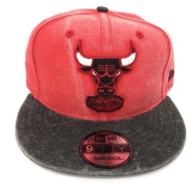 Chicago Bulls New Era NBA 9Fifty 950 Rugged Snapback Mens Red Fit Cap Hat d2735d41305c