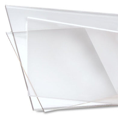 "Clear Acrylic Plexiglass Plastic High Density Sheet 1/8"" Thick Custom Cut 2 Size"